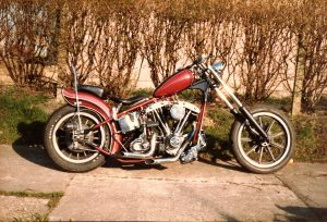 1st 1200cc harley built `81 after it bit me n got wrote off