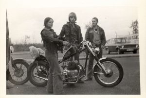 Wes built this 750cc Royal Enfield back in the `70s won't be out of place today R.I.P. Wes
